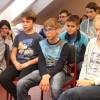Novák Ferenc tréner a Rozgonyi-iskolában, fotó: Bakonyi Erzsébet